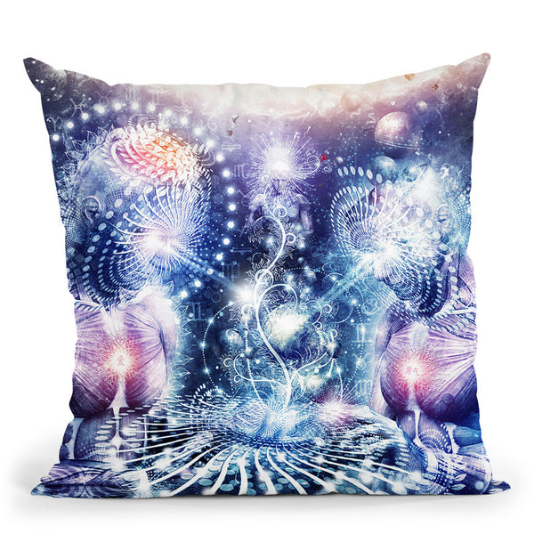 The Knowledge Of The Planets  Throw Pillow By Cameron Gray - by all about vibe