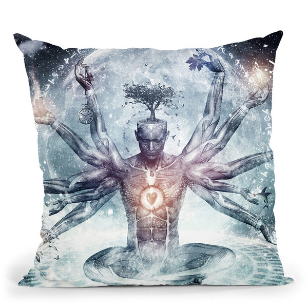 The Neverending Dreamer  Throw Pillow By Cameron Gray - by all about vibe