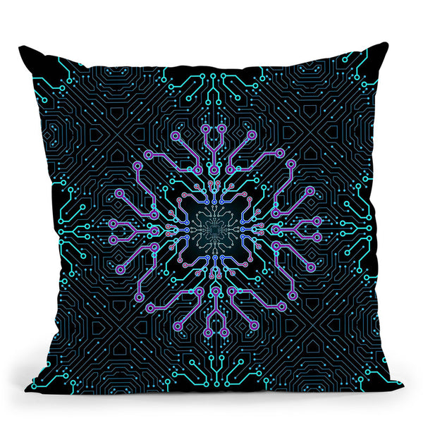 Connected  Throw Pillow By Cameron Gray - by all about vibe