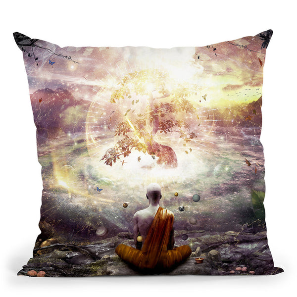 Nature And Time  Throw Pillow By Cameron Gray - by all about vibe
