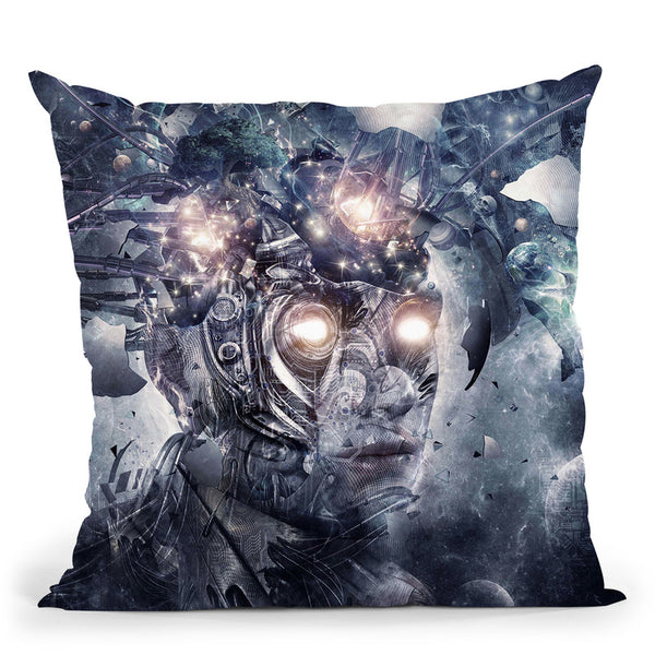 Reconstruction  Throw Pillow By Cameron Gray - by all about vibe