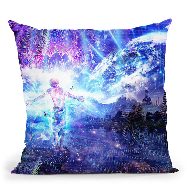 Ritual Night Stars  Throw Pillow By Cameron Gray - by all about vibe