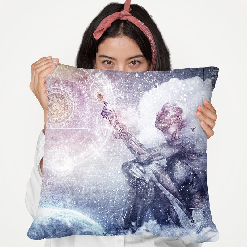 Awake In A Silver Land I Throw Pillow By Cameron Gray