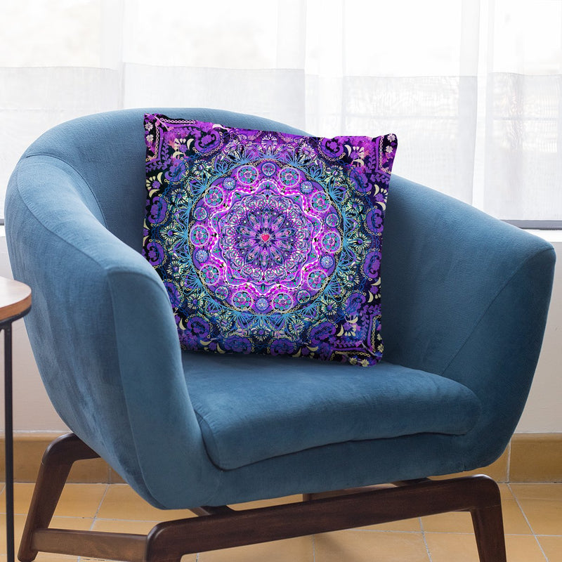 Cosmic Love Mandala Throw Pillow By Cameron Gray