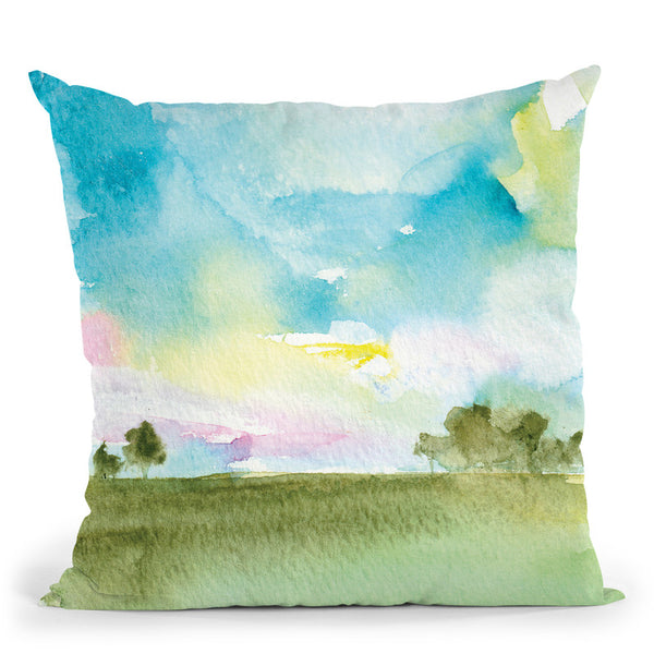 Landscape Vii Throw Pillow By Christine Lindstrom