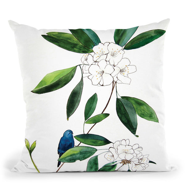 Amongsttherhododendron Throw Pillow By Christine Lindstrom