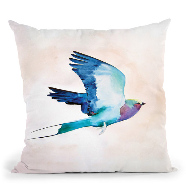 Lilac Roller Throw Pillow By Christine Lindstrom
