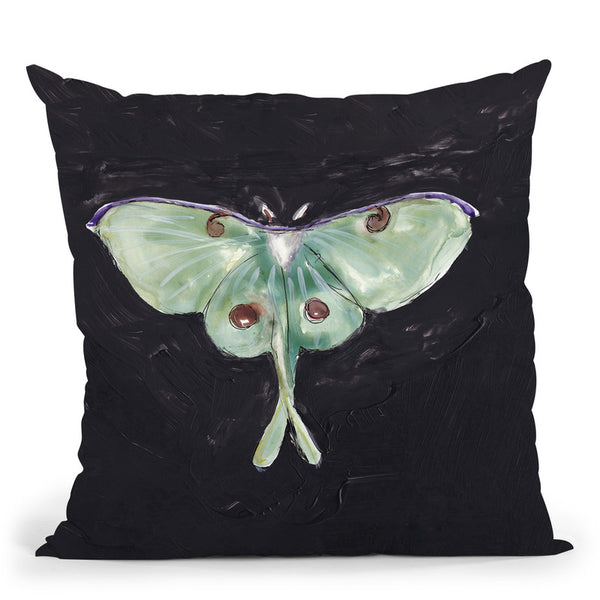 Luna Moth Throw Pillow By Christine Lindstrom
