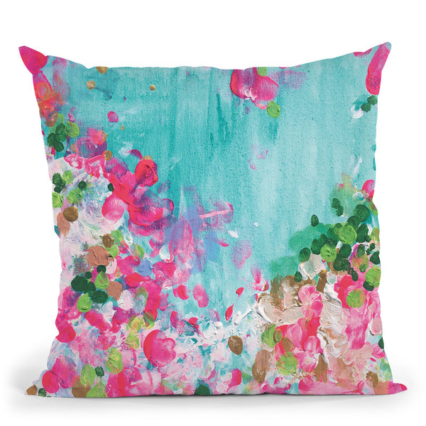 May Garden Throw Pillow By Christine Lindstrom