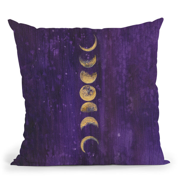 Moon Phases Throw Pillow By Christine Lindstrom