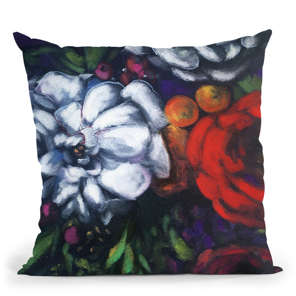 Night Bloom Throw Pillow By Christine Lindstrom