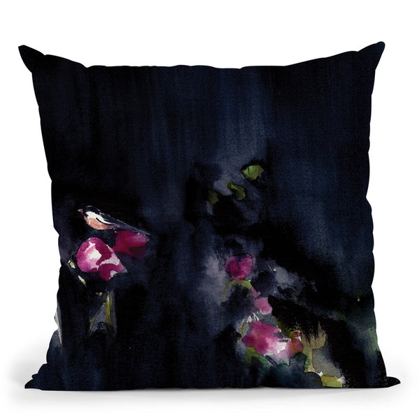 Night Garden Ii Throw Pillow By Christine Lindstrom