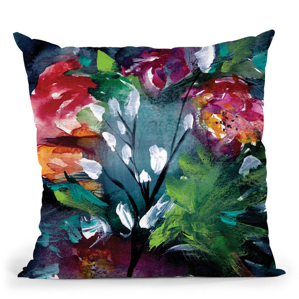 Night Garden Iii Throw Pillow By Christine Lindstrom