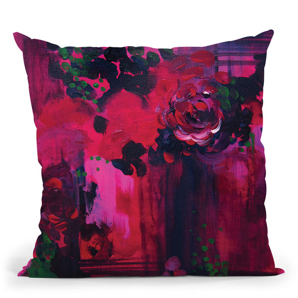 Night Garden Throw Pillow By Christine Lindstrom