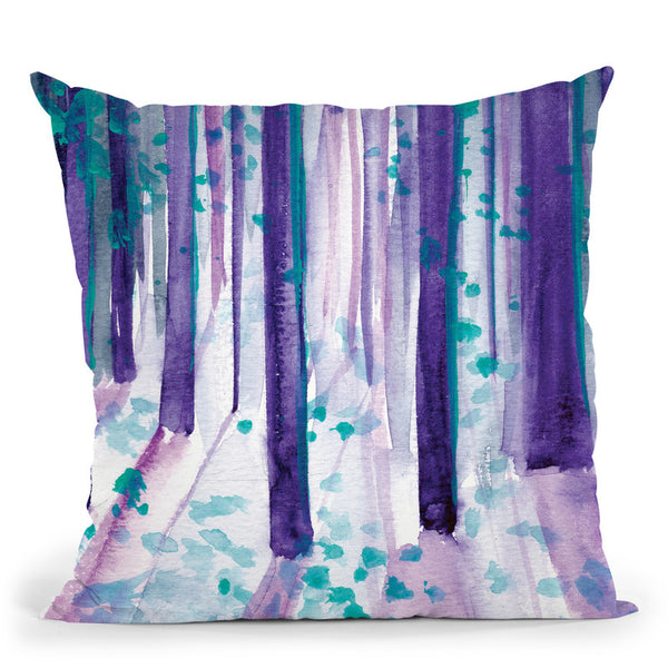 Night Walk Throw Pillow By Christine Lindstrom