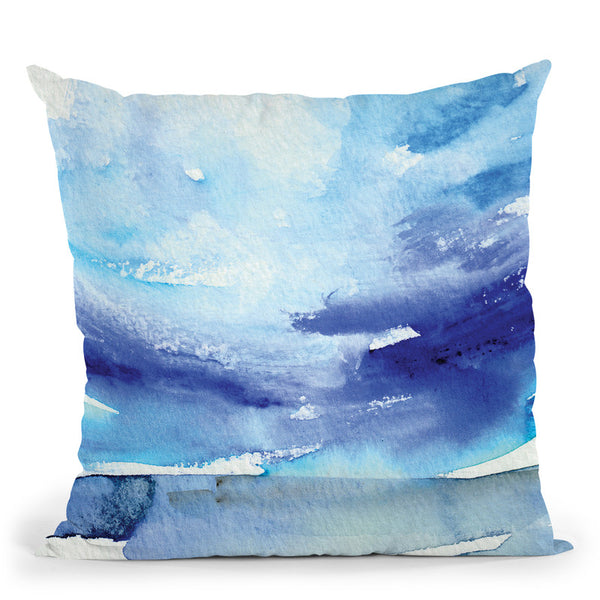 Oceanscape I Throw Pillow By Christine Lindstrom