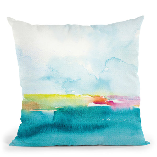 Oceanscape Ii Throw Pillow By Christine Lindstrom