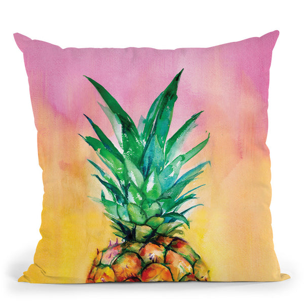 Ombre Pineapple Throw Pillow By Christine Lindstrom