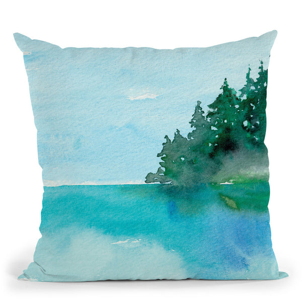 On The Lake Throw Pillow By Christine Lindstrom
