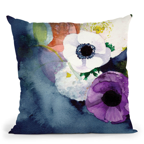 Anemones Throw Pillow By Christine Lindstrom