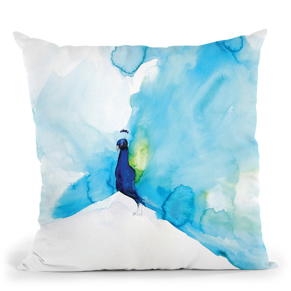Peacock Iii Throw Pillow By Christine Lindstrom