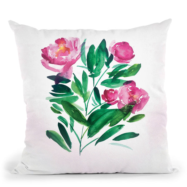 Peonies Iii Throw Pillow By Christine Lindstrom