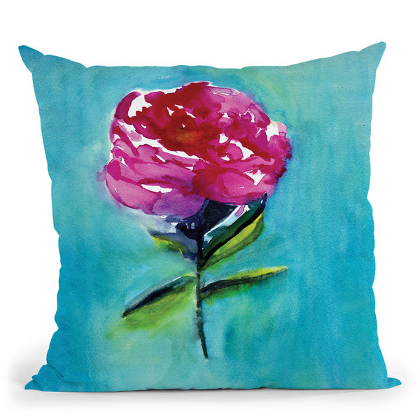 Peony Throw Pillow By Christine Lindstrom