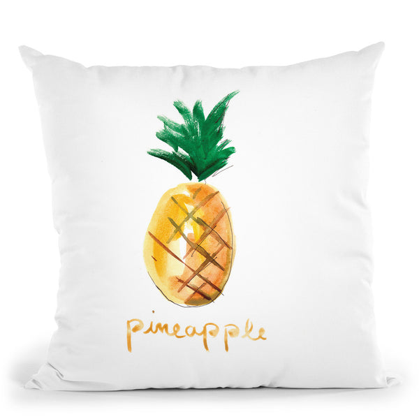 Pineapple Throw Pillow By Christine Lindstrom