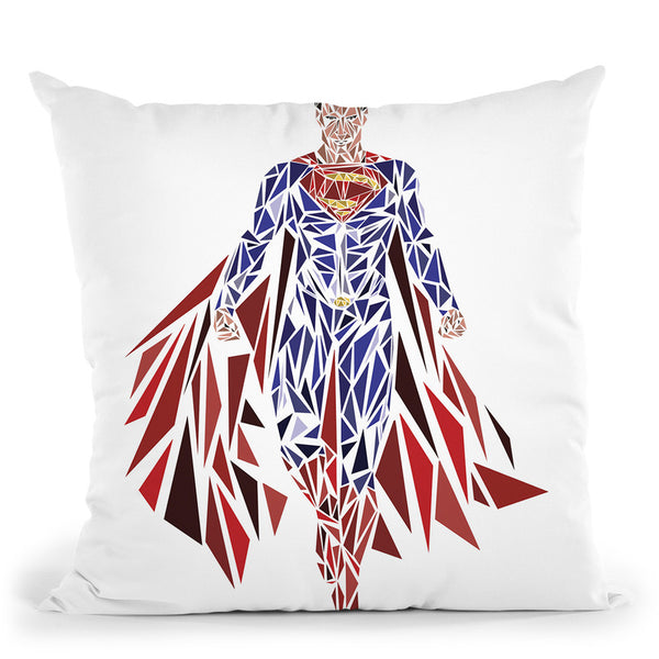 Man Of Steel Throw Pillow By Christian Mielu