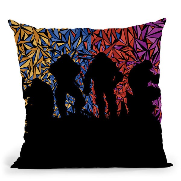 Ninja Turtles Throw Pillow By Christian Mielu