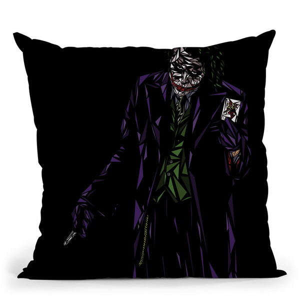 The Joker Throw Pillow By Christian Mielu