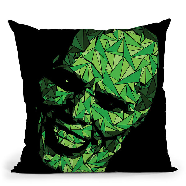 The Mask Throw Pillow By Christian Mielu