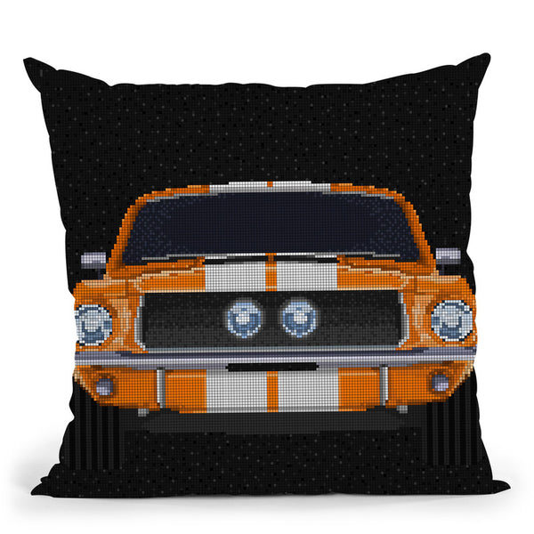 67-Mustang Throw Pillow By Christian Mielu