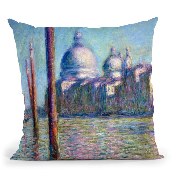 Le Grand Canal Throw Pillow By Claude Monet