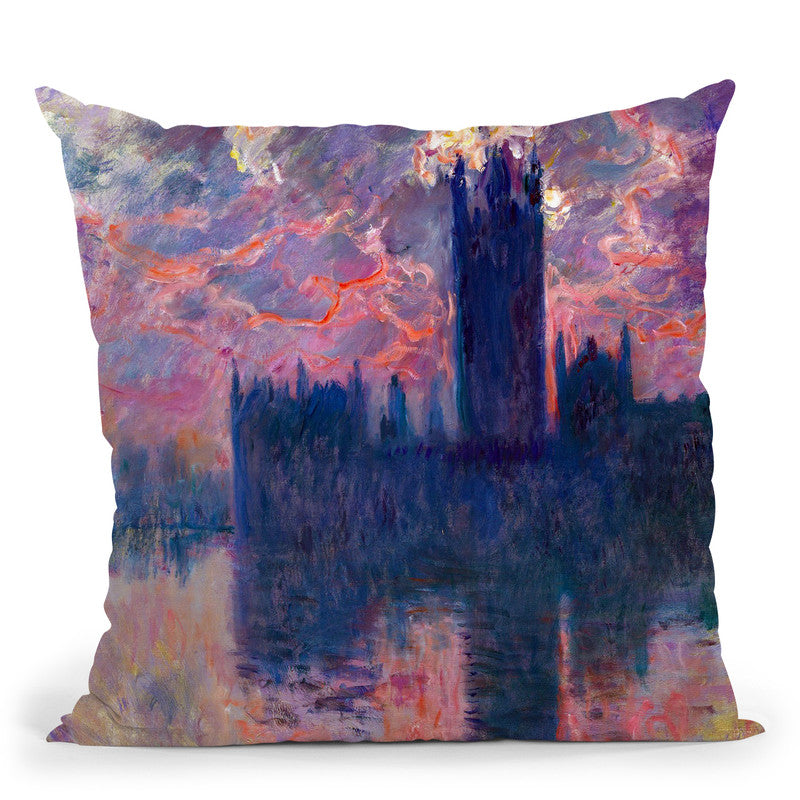 Le Parlement Throw Pillow By Claude Monet