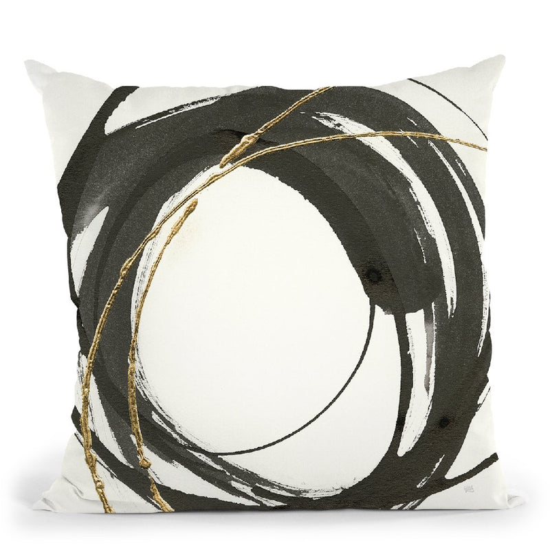 Gilded Enso Iv Throw Pillow By Chris Paschke