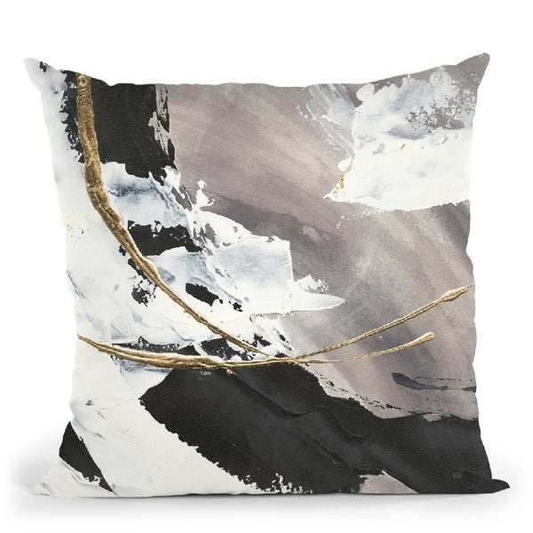 Gilded Arcs I Throw Pillow By Chris Paschke