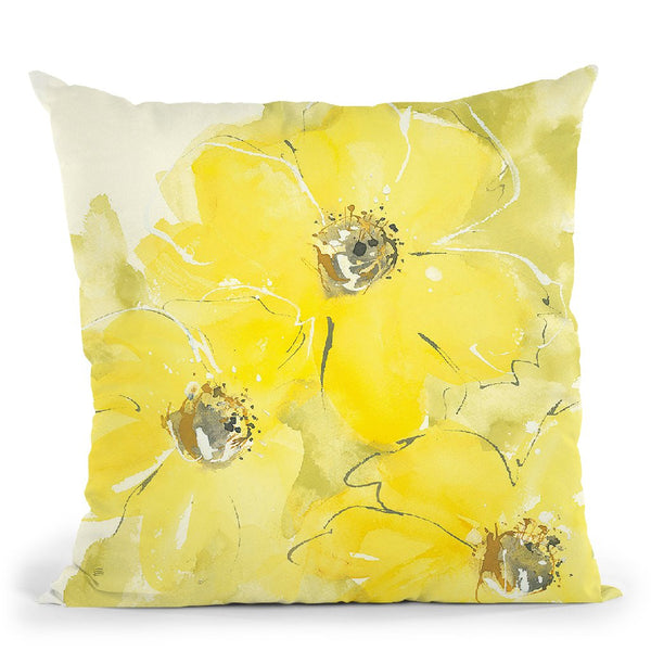 Sunshine Cosmos I Throw Pillow By Chris Paschke