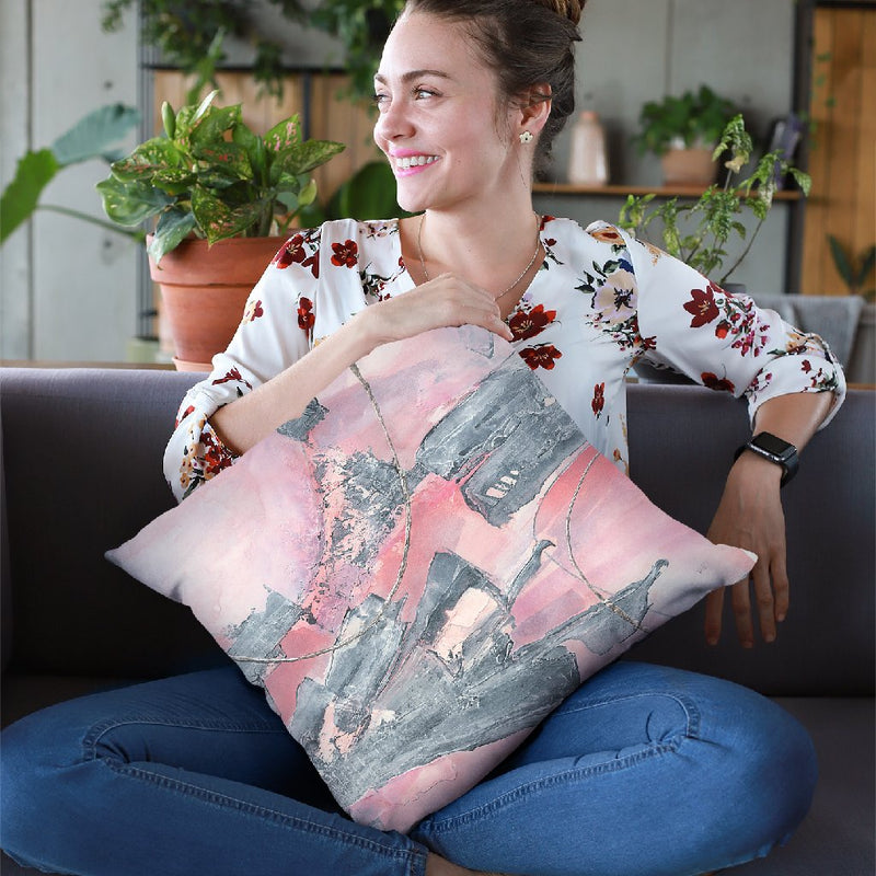 Whitewashed Blush Iii Throw Pillow By Chris Paschke