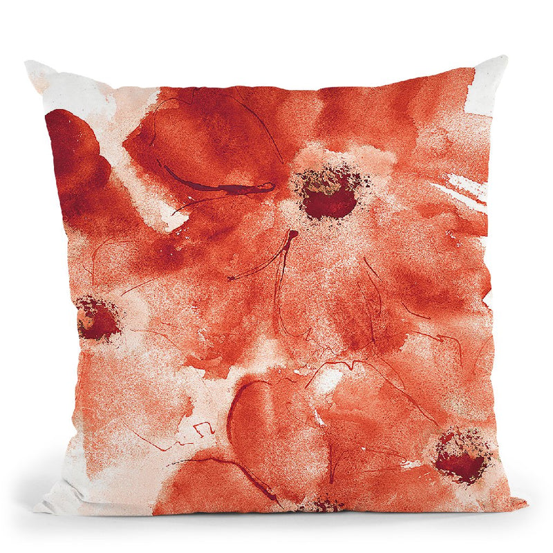Seashell Cosmos I Red And Orange Throw Pillow By Chris Paschke