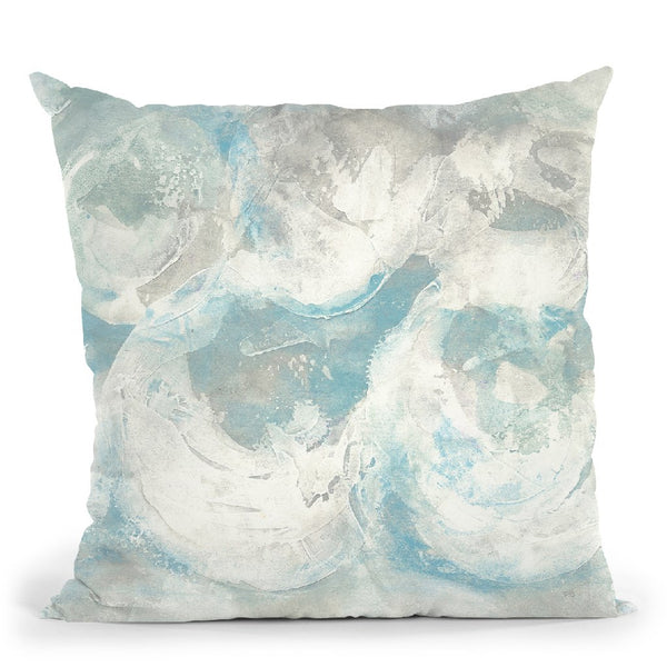 Pale Blue Circles Iv Throw Pillow By Chris Paschke