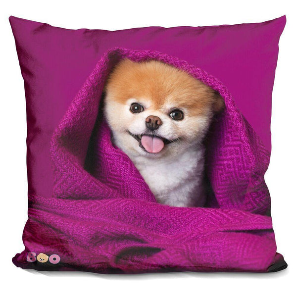 Boo Cozy Throw Pillow