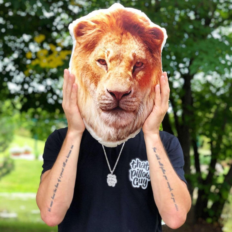 Custom Lion Pillow
