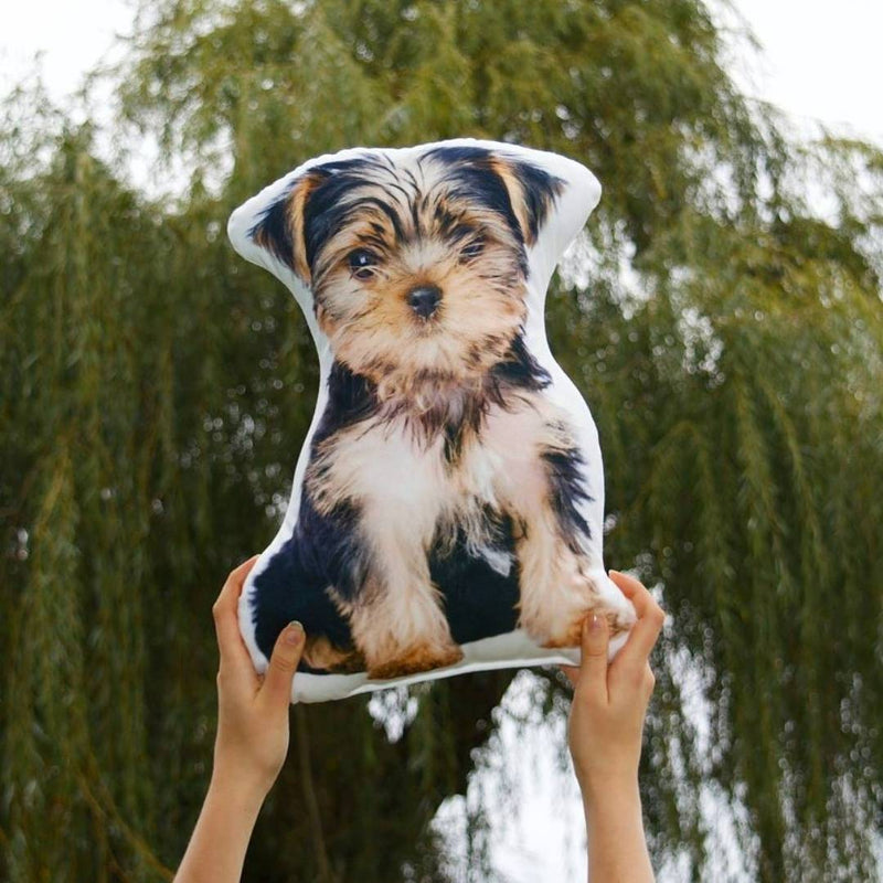Custom Yorki Shaped Dog Pillow