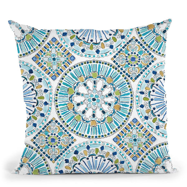 Peacock Allegory Step 01B Throw Pillow By Daphne Brissonnet