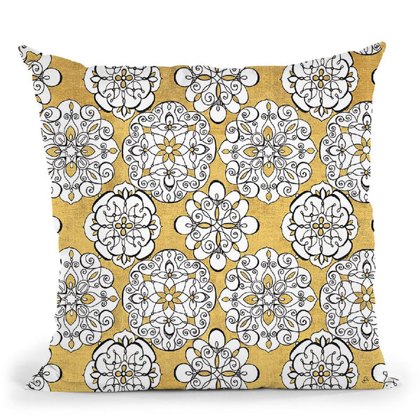 Color My World Kolam Pattern Throw Pillow By Daphne Brissonnet