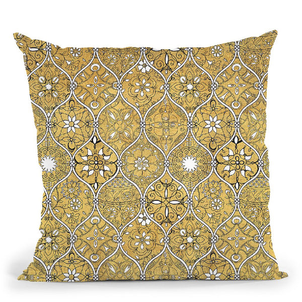 Color My World Spice Mosaic Throw Pillow By Daphne Brissonnet