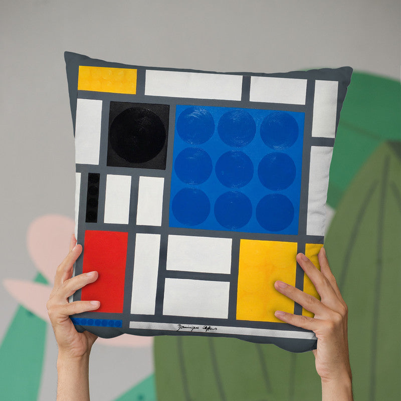 Mondrian Throw Pillow By Dominique Steffens
