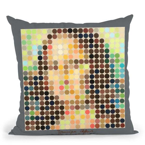 Miss Lisa Throw Pillow By Dominique Steffens