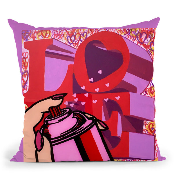 Love Hearts Throw Pillow By Dominique Steffens